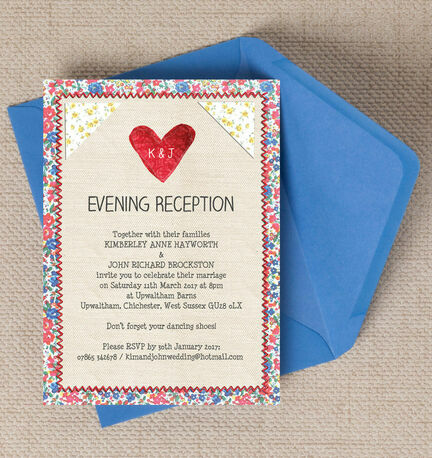 Country Textiles Evening Reception Invitation