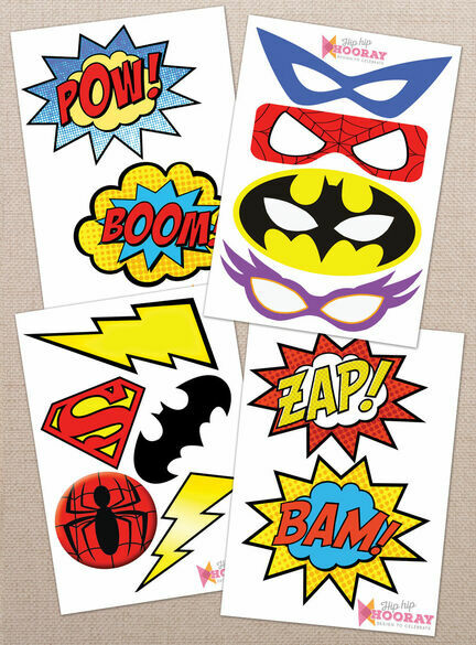Satisfactory image intended for free printable superhero photo booth props