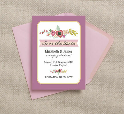 Elegant Floral Save the Date