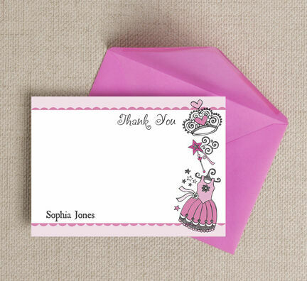 Fairy Princess Thank You Cards