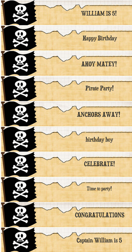Pirate Party DIY Straw Flags