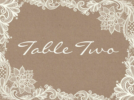 Rustic Lace Table Name