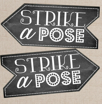 'Strike a Pose' Printable Photo Booth Sign