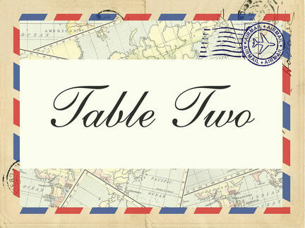 Vintage Airmail Table Name