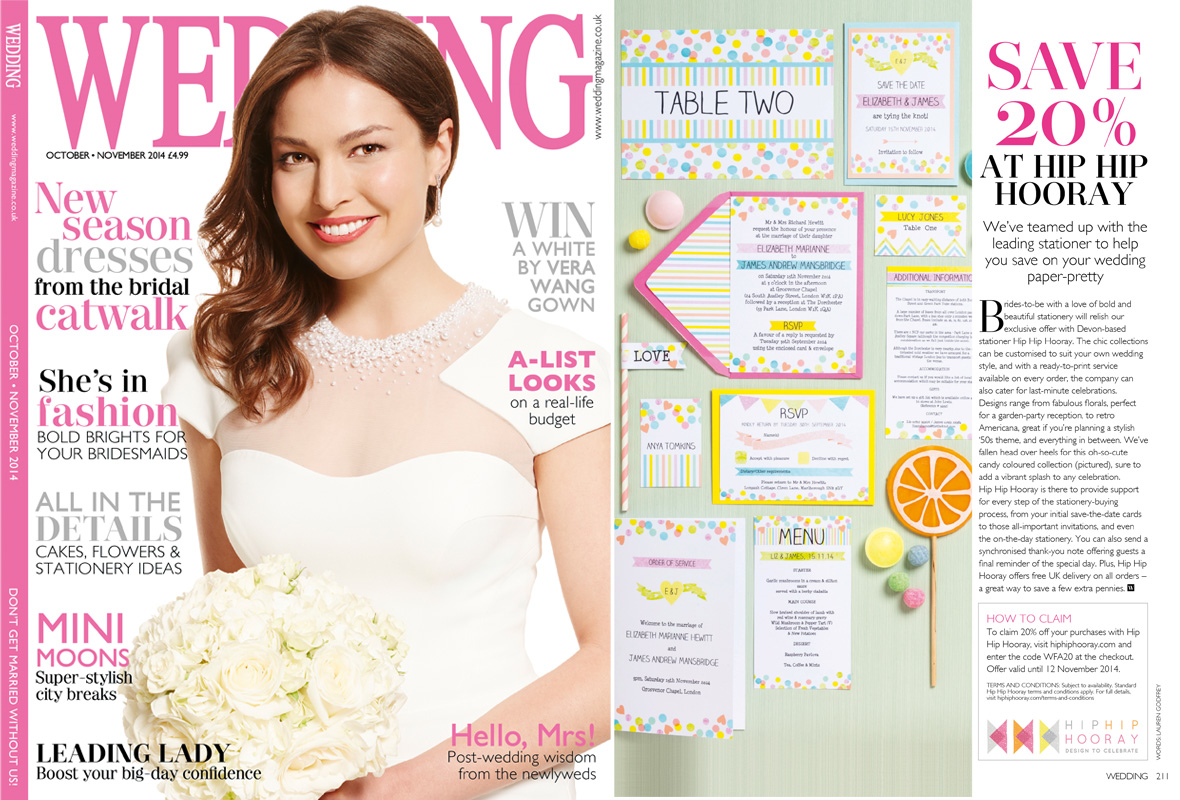 Hip Hip Hooray Wedding Stationery In The Press