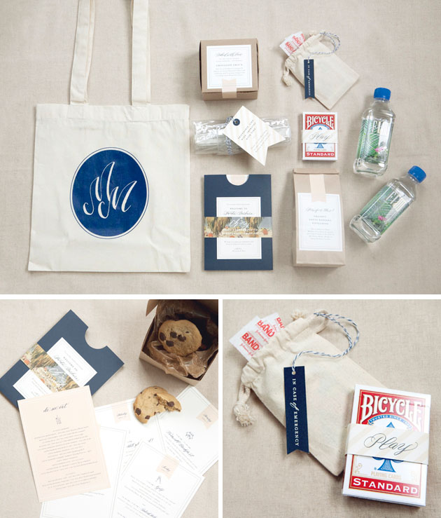 Wedding Hotel Goodie Bag Ideas : even a list of your favorite eateries in the area